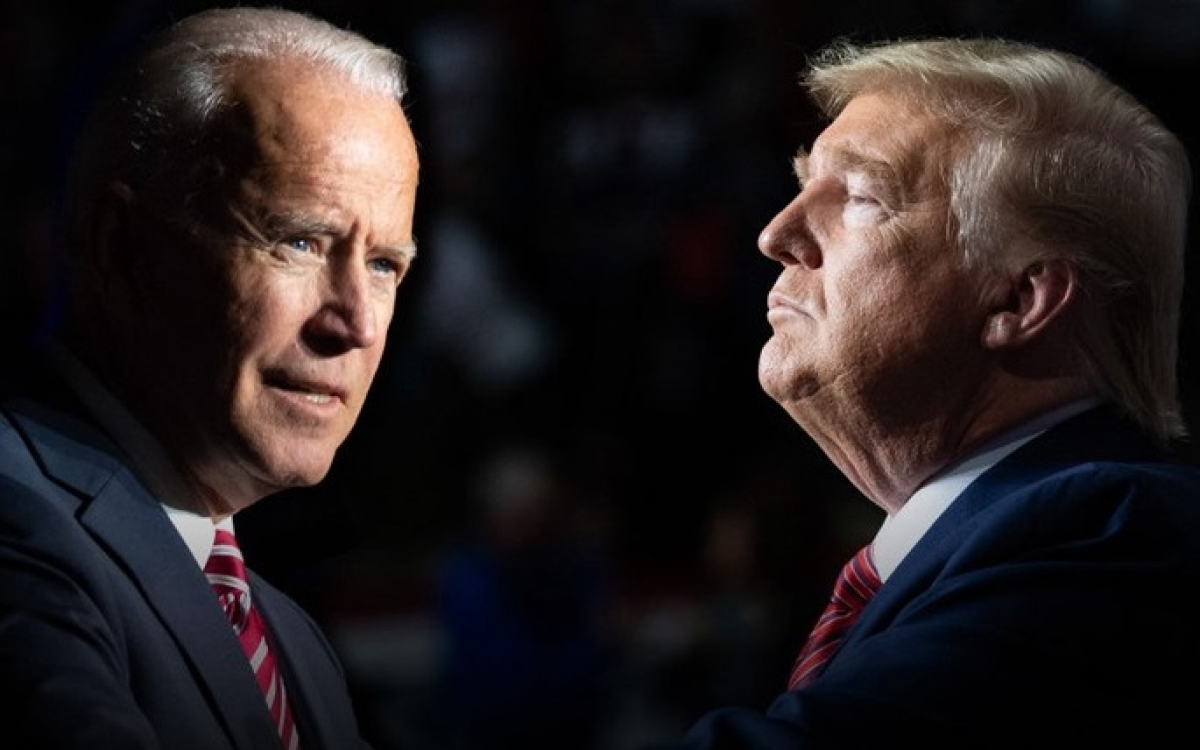 Ứng viên đảng Dân chủ Joe Biden (trái) và Tổng thống Donald Trump (phải). Ảnh: The Wall Street Journal.