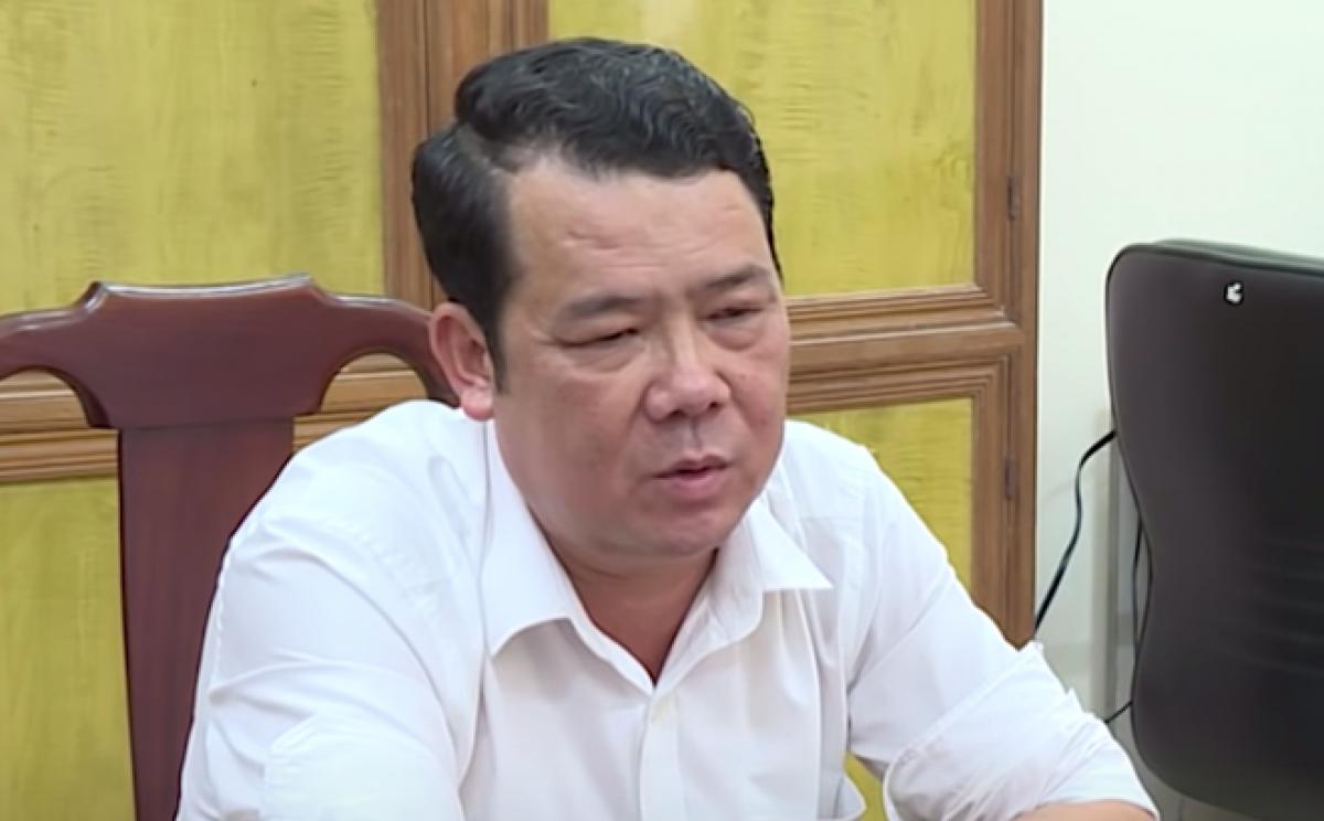 Ông Nguyễn Văn Sướng tại trụ sở công an