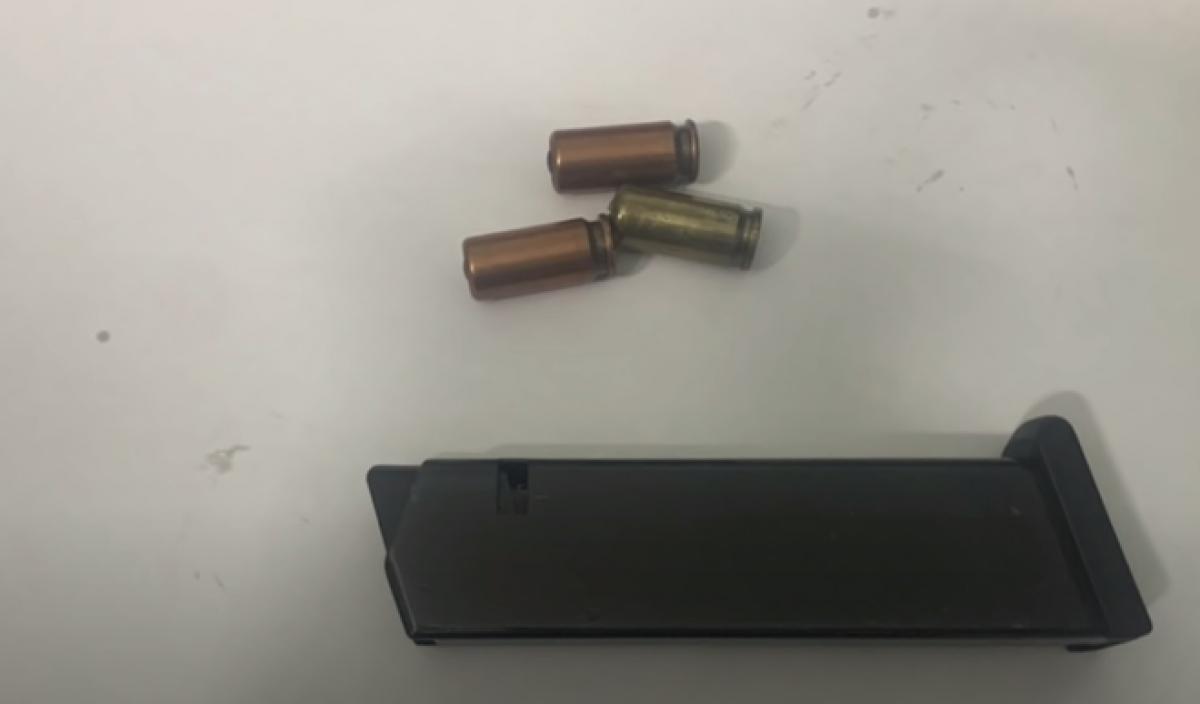 Hình ảnh khẩu súng và đạn thu giữ. Ảnh công an cung cấp.