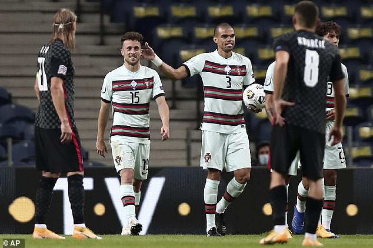 ĐT Bồ Đào Nha thắng đậm ĐT Croatia dù thiếu vắng Ronaldo. (Ảnh: Getty)