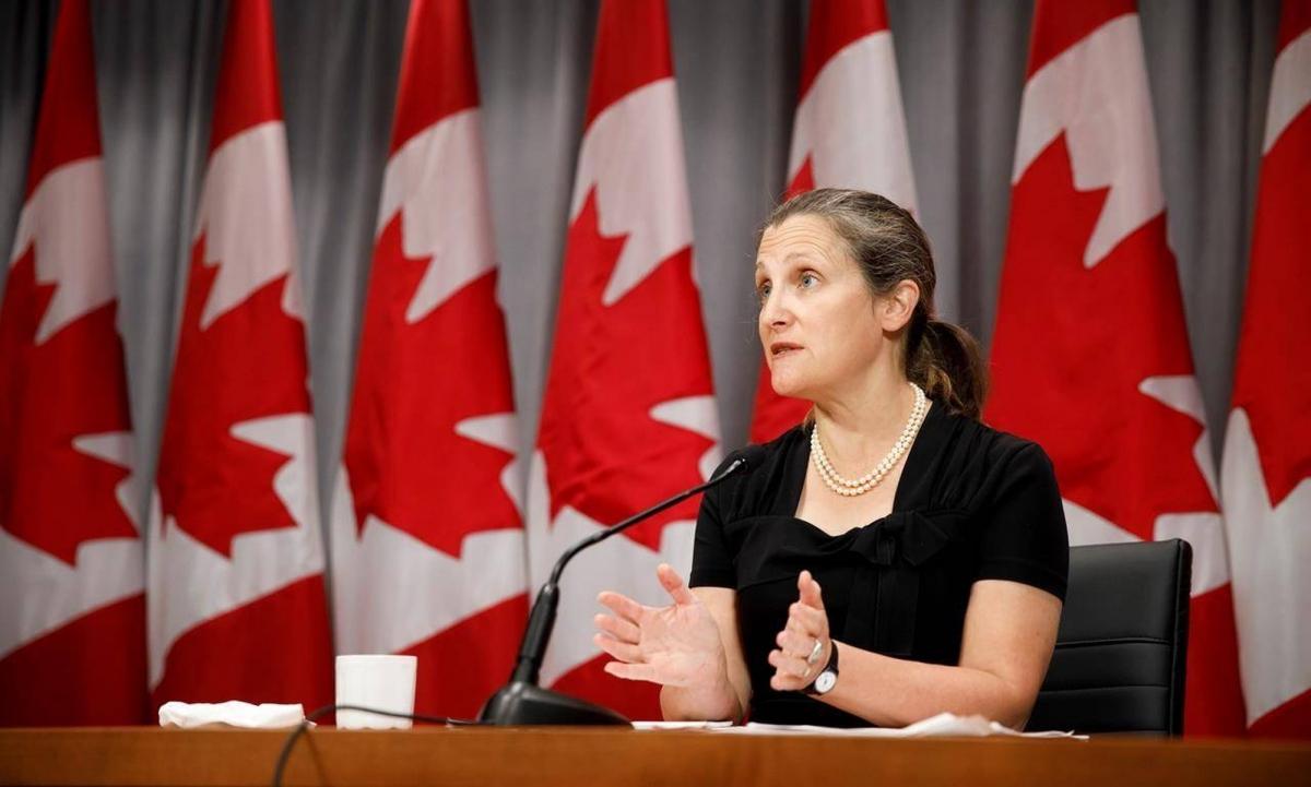 Phó Thủ tướng Canada Chrysti Freeland. Ảnh: AP