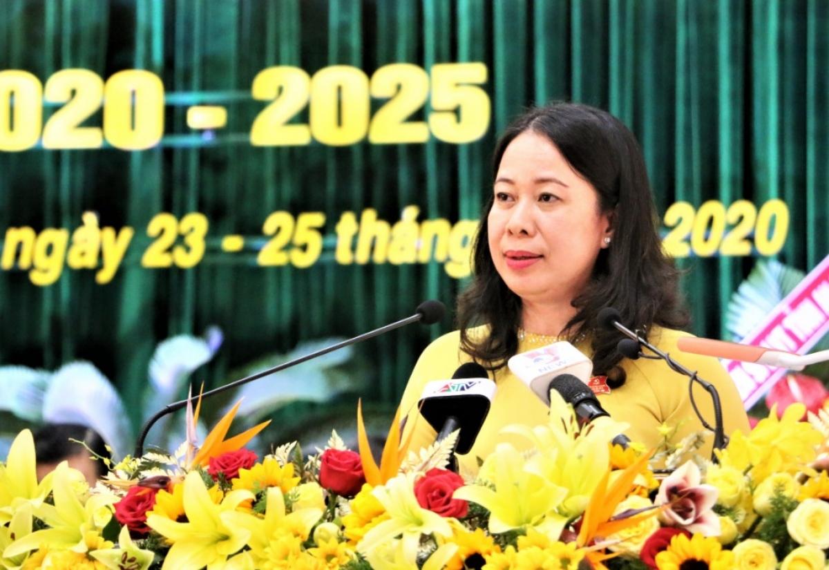 Bà Võ Thị Ánh Xuân - Bí thư Tỉnh ủy An Giang.