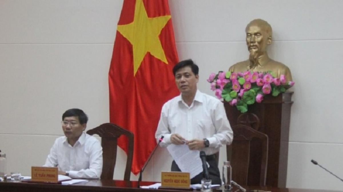 Thứ trưởng Bộ GTVT Nguyễn Ngọc Đông phát biểu tại buổi làm việc.