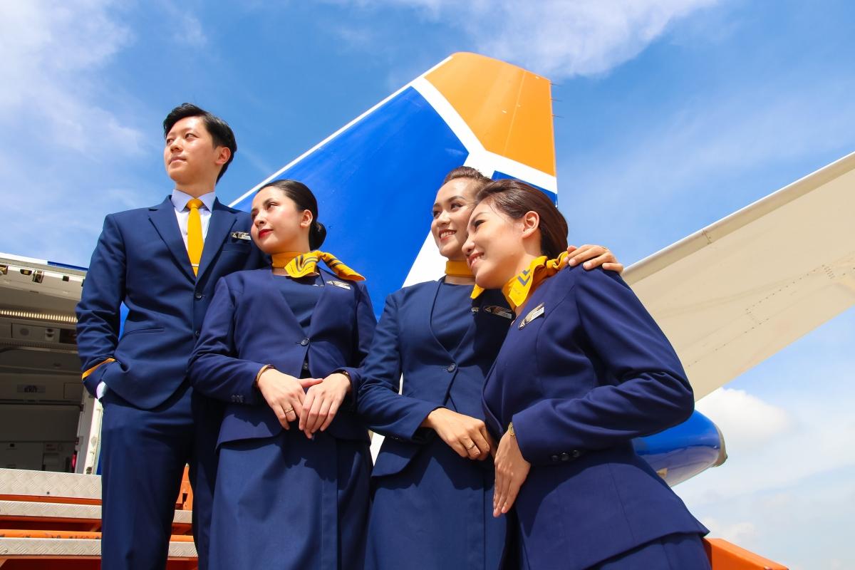 Hình ảnh tiếp viên Pacific Airlines trong đồng phục mới.
