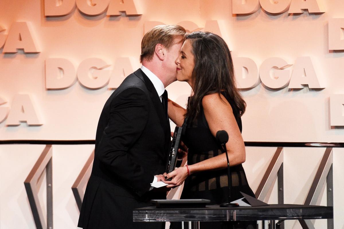 Christopher Nolan và vợ, nhà sản xuất Emma Thomas.