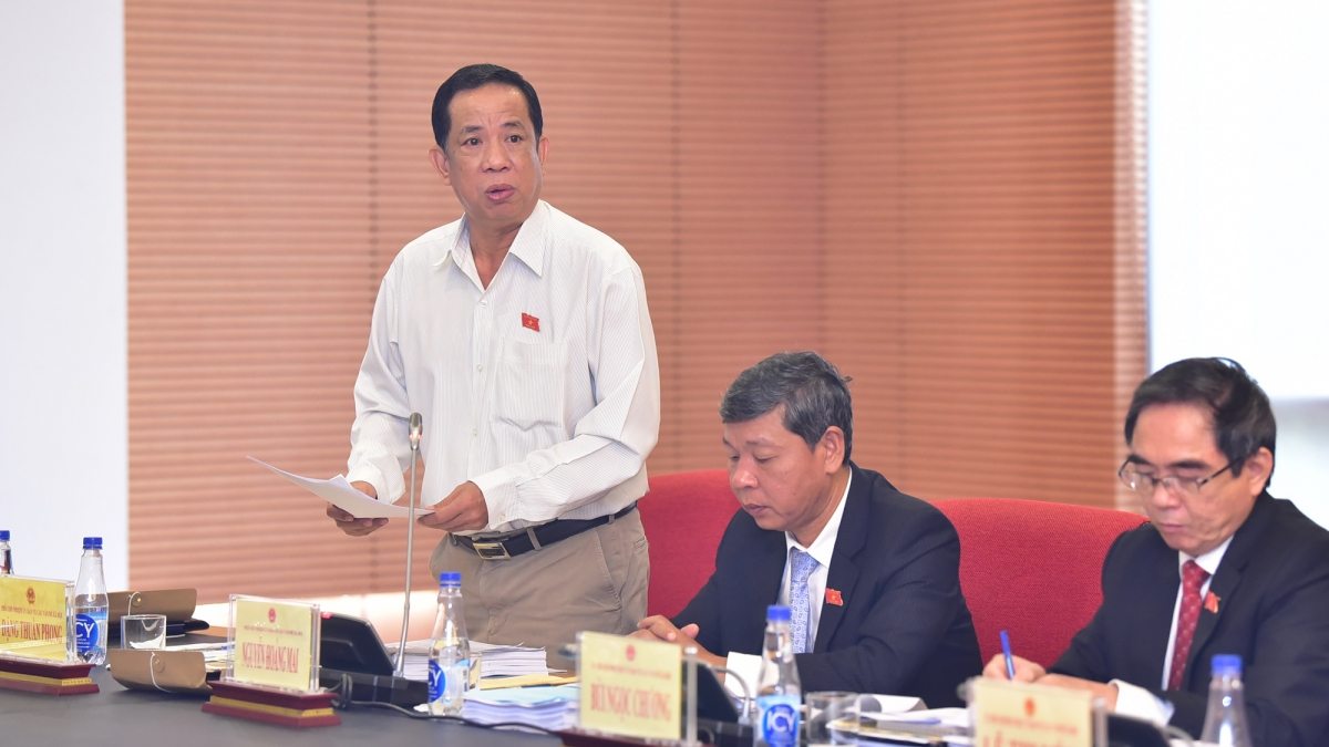 Phó Chủ nhiệm Uỷ ban về các vấn đề xã hội Đặng Thuần Phong - đại diện cơ quan thẩm tra dự án luật phát biểu