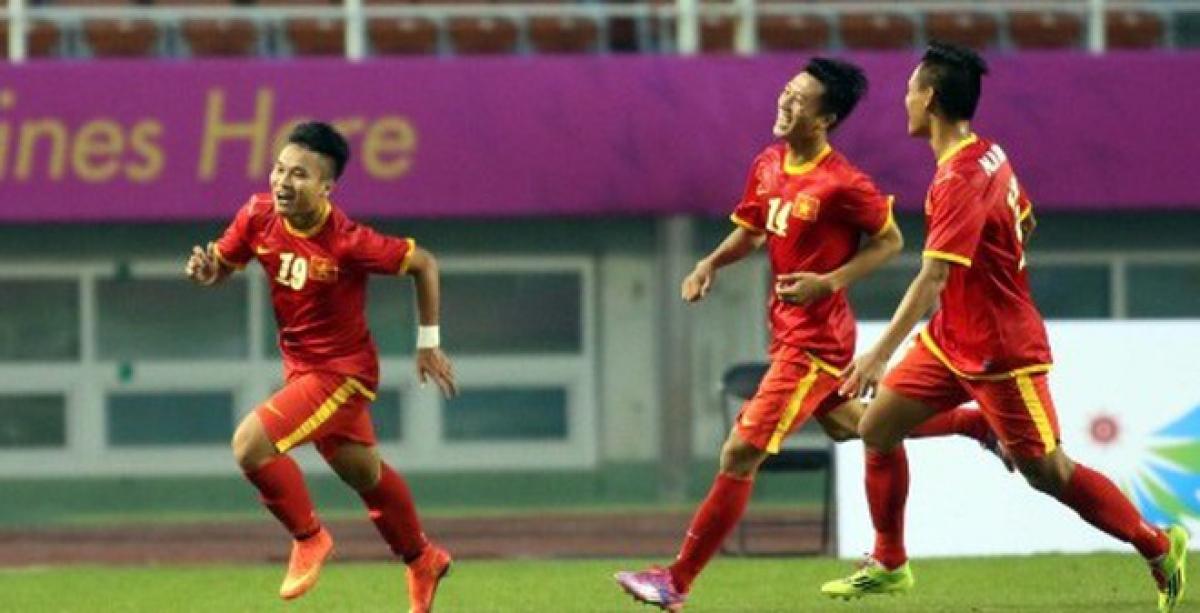 """Olympic Việt Nam có trận thắng """"chấn động"""" trước Iran ngày này 6 năm trước. (Ảnh: VFF)."""