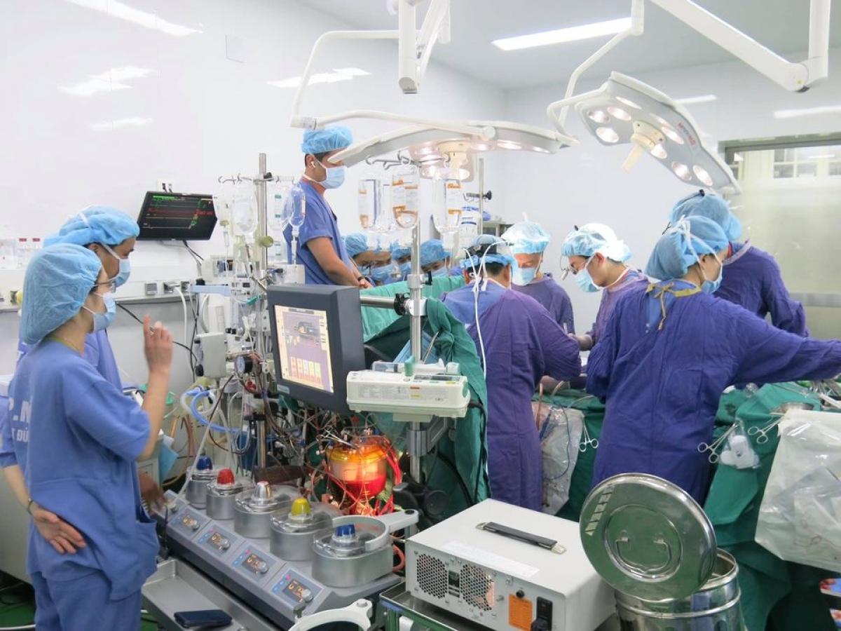 Ca ghép tạng thực hiện tại Bệnh viện Việt Đức. (Ảnh: BVCC)