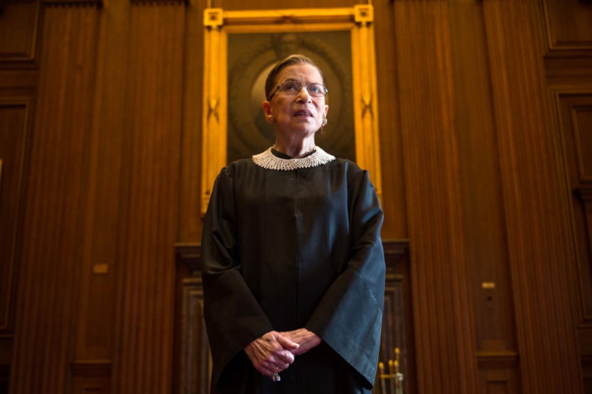 Thẩm phán Ginsburg năm 2013. Ảnh: Getty
