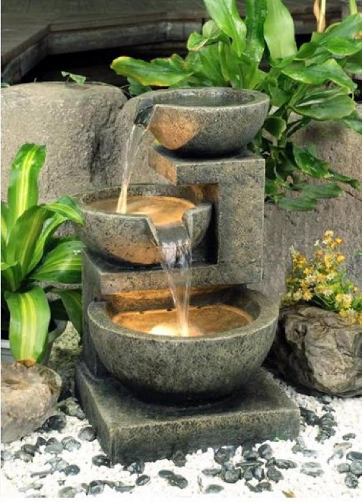 Tiếng róc rách của nước có tác dụng rất lớn trong việc làm dịu tâm trí.