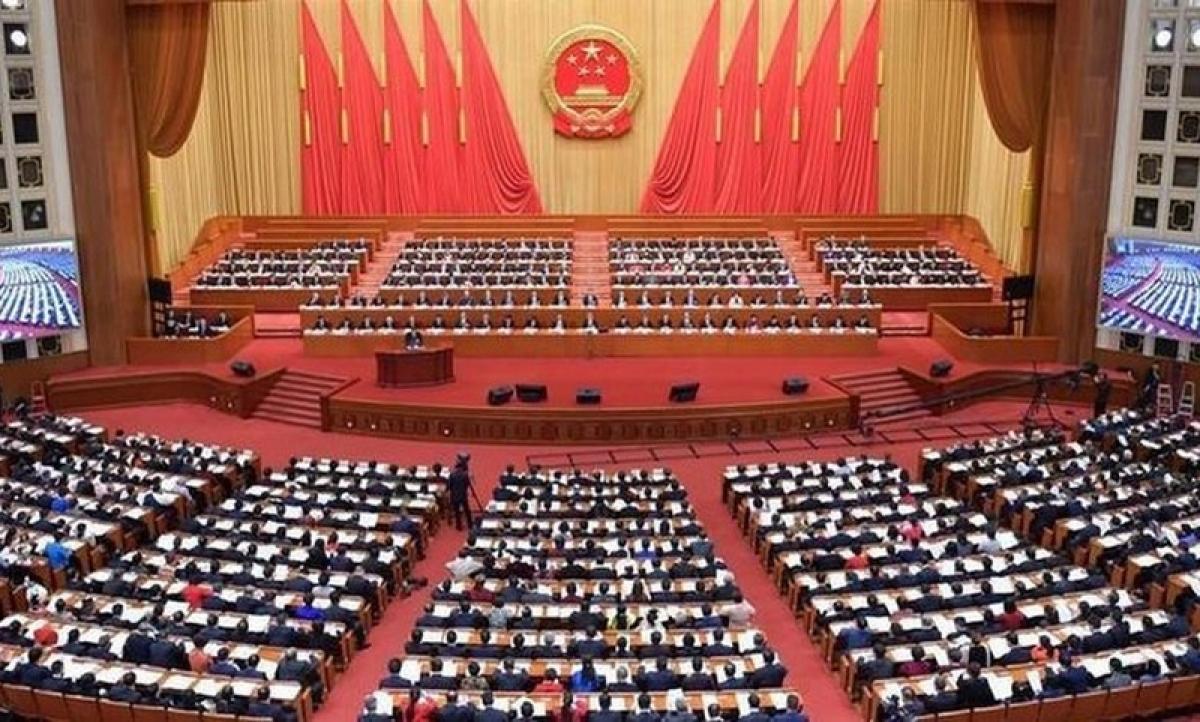 Phiên họp Quốc hội Trung Quốc hồi tháng 3/2019. Ảnh: Tân hoa xã