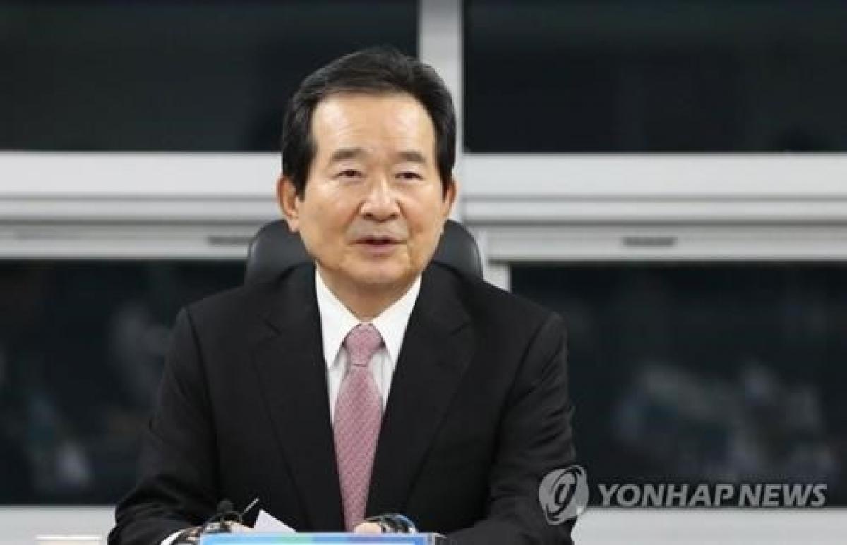 Thủ tướng Hàn Quốc Chung Sye-kyn. Ảnh: Yonhap