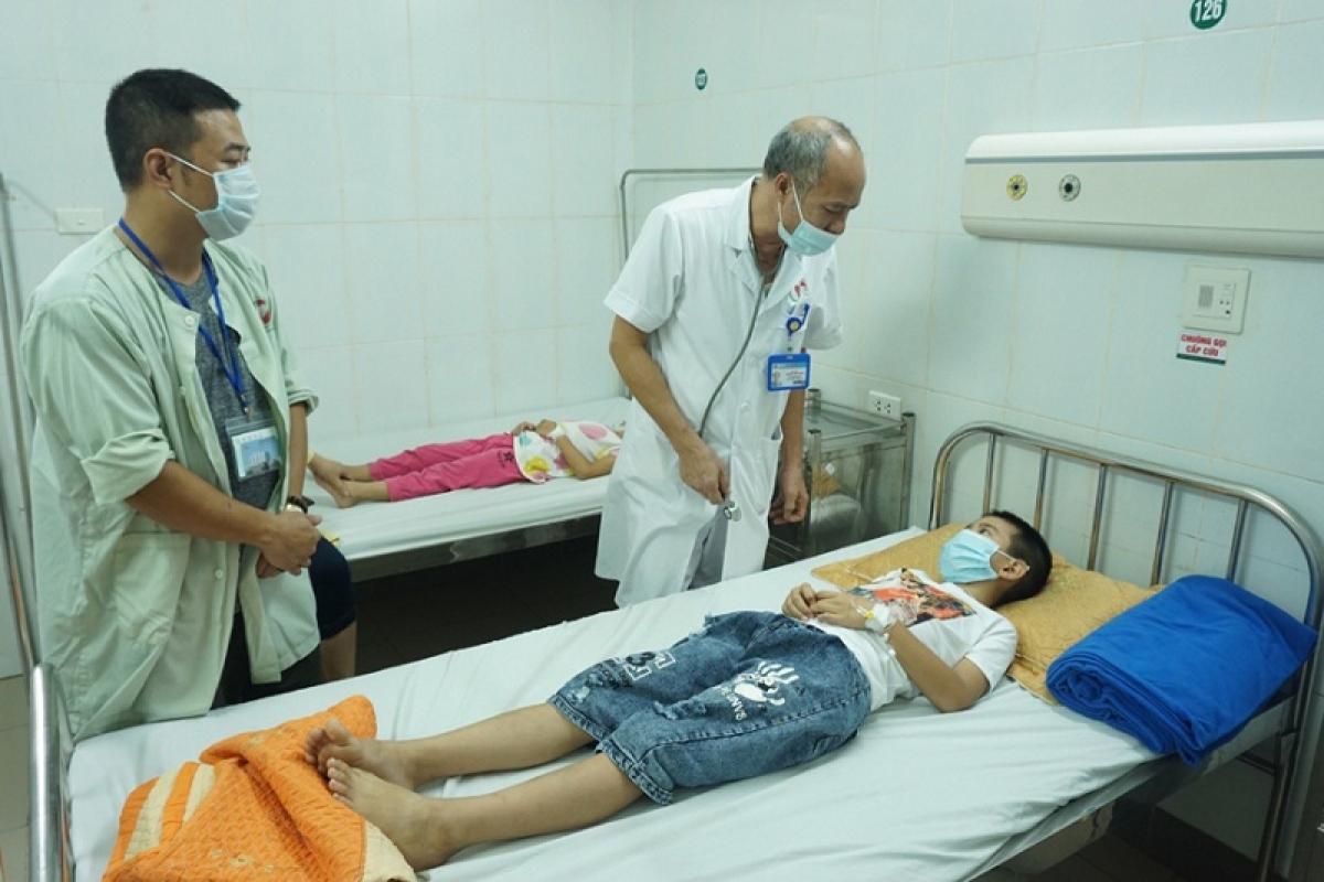 Sức khỏe của học sinh phải nhập viện ngày 10/9 đã ổn định trở lại. Ảnh KĐ.