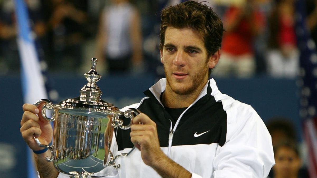 """""""Kỷ nguyên Federer"""" chấm dứt ở US Open bởi del Potro năm 2009. (Ảnh: Getty)."""