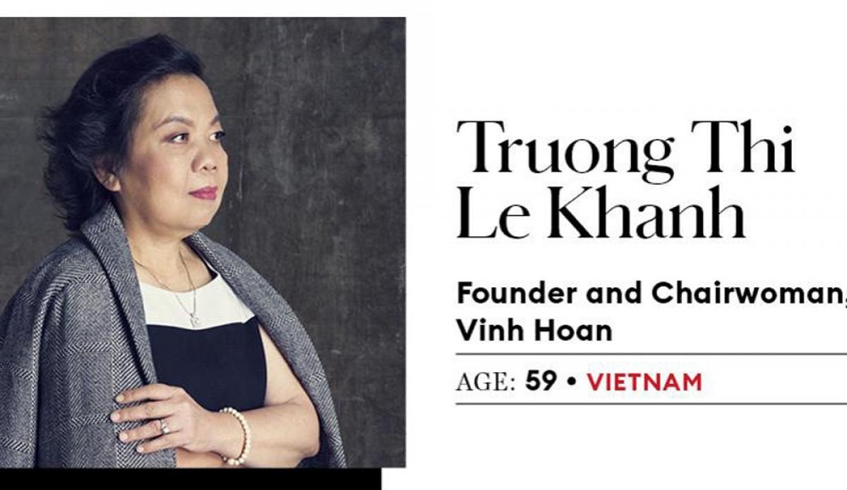 Bà Trương Thị Lệ Khanh – nhà sáng lập và Chủ tịch CTCP Vĩnh Hoàn