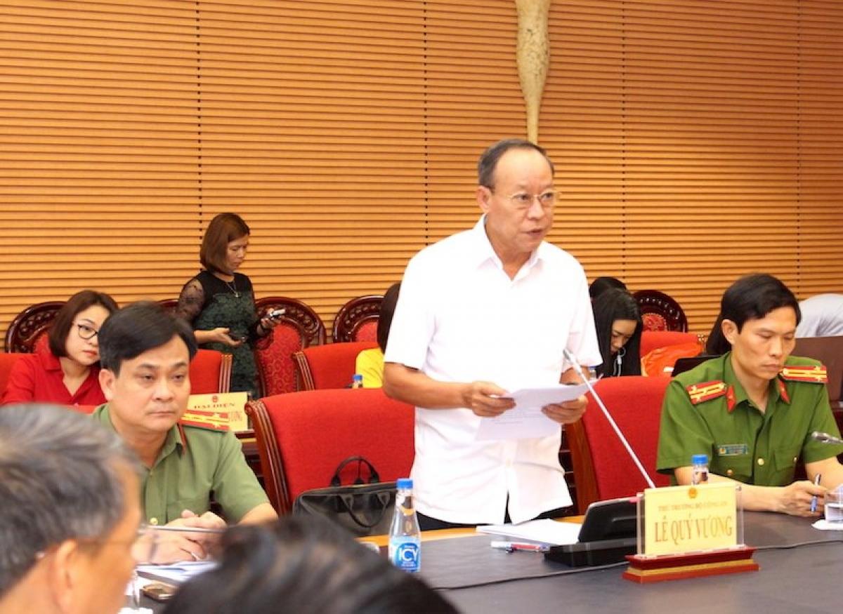 Thứ trưởng Lê Quý Vương phát biểu tại phiên họp