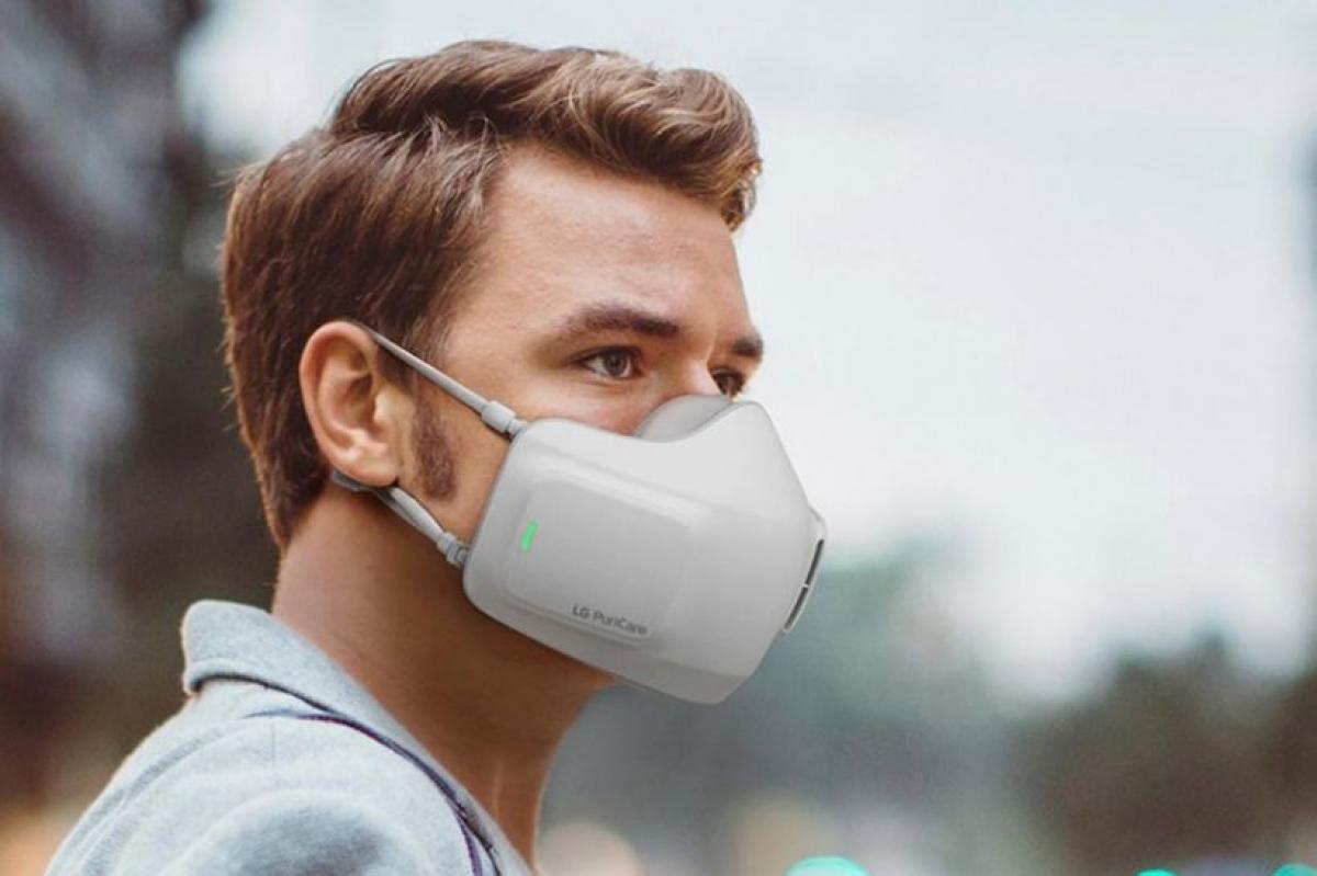 Hình ảnh thiết bị lọc không khí PuriCare có thể đeo, do LG Electronics cung cấp. (Ảnh: LG)