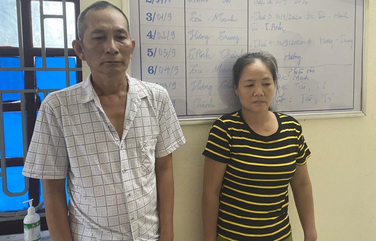 Vợ chồng Đỗ Thanh Sơn và Nguyễn Thị Hân (Ảnh: CA)