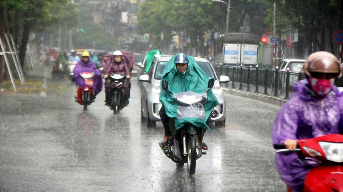 Bão số 5 suy yếu, mưa trên diện rộng ở nhiều nơi. (Ảnh: KT)