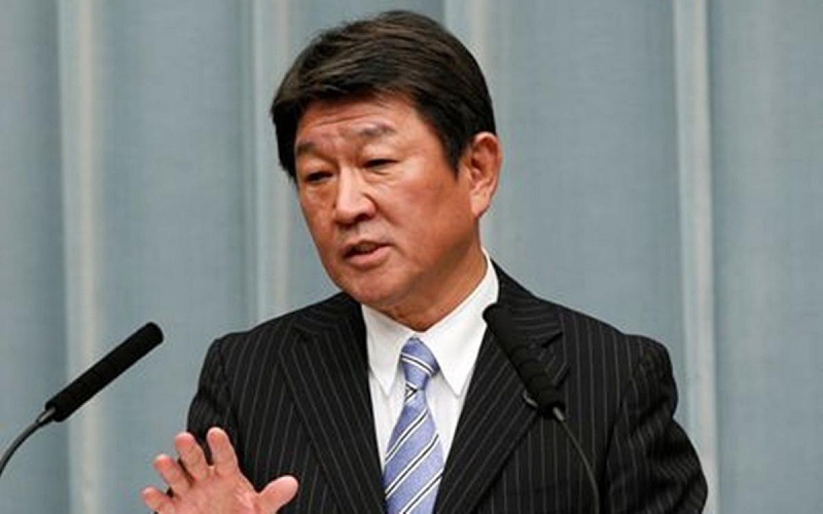 Ngoại trưởng Nhật Motegi. Ảnh: Yahoo.