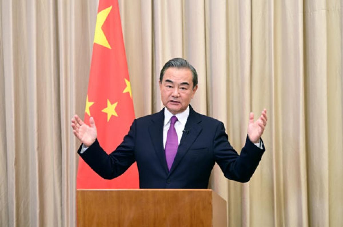 Ngoại trưởng Trung Quốc Vương Nghị phát biểu tại Hội thảo (Ảnh: Bộ Ngoại giao Trung Quốc).