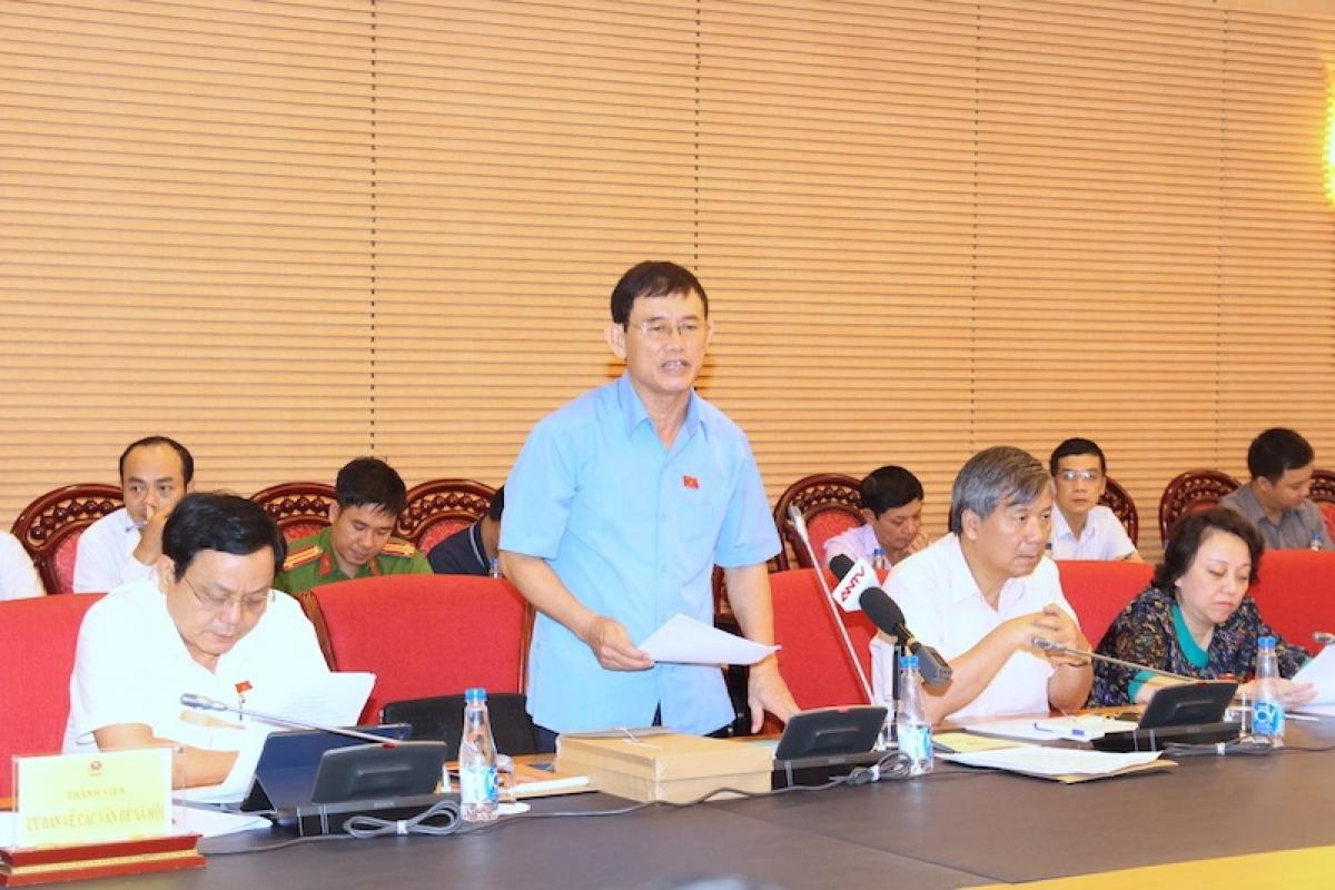 Đại biểu Nguyễn Ngọc Phương nêu ý kiến vào dự thảo Luật Phòng, chống ma tuý (sửa đổi)
