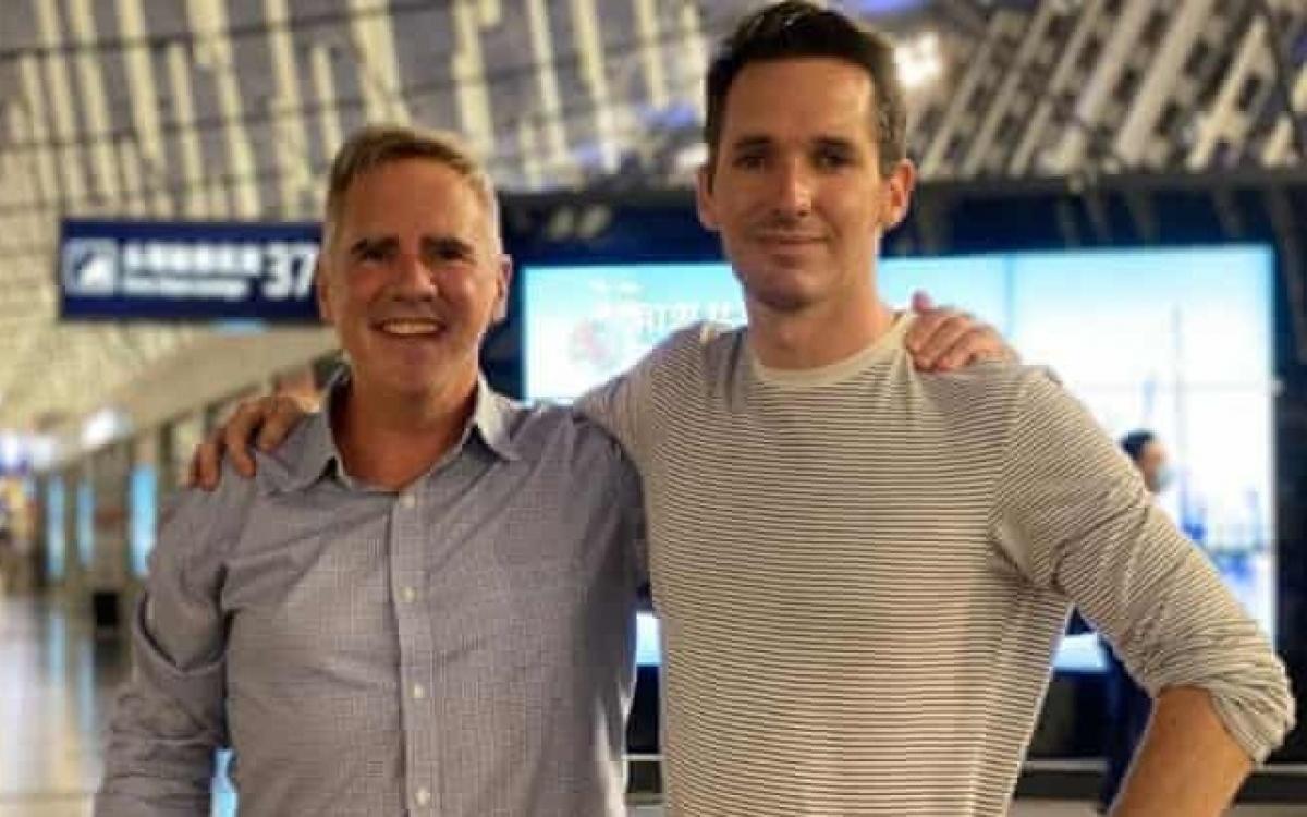 Hai nhà báo Australia vừa rời Trung Quốc về nước hôm 8/9. Nguồn: ABC.