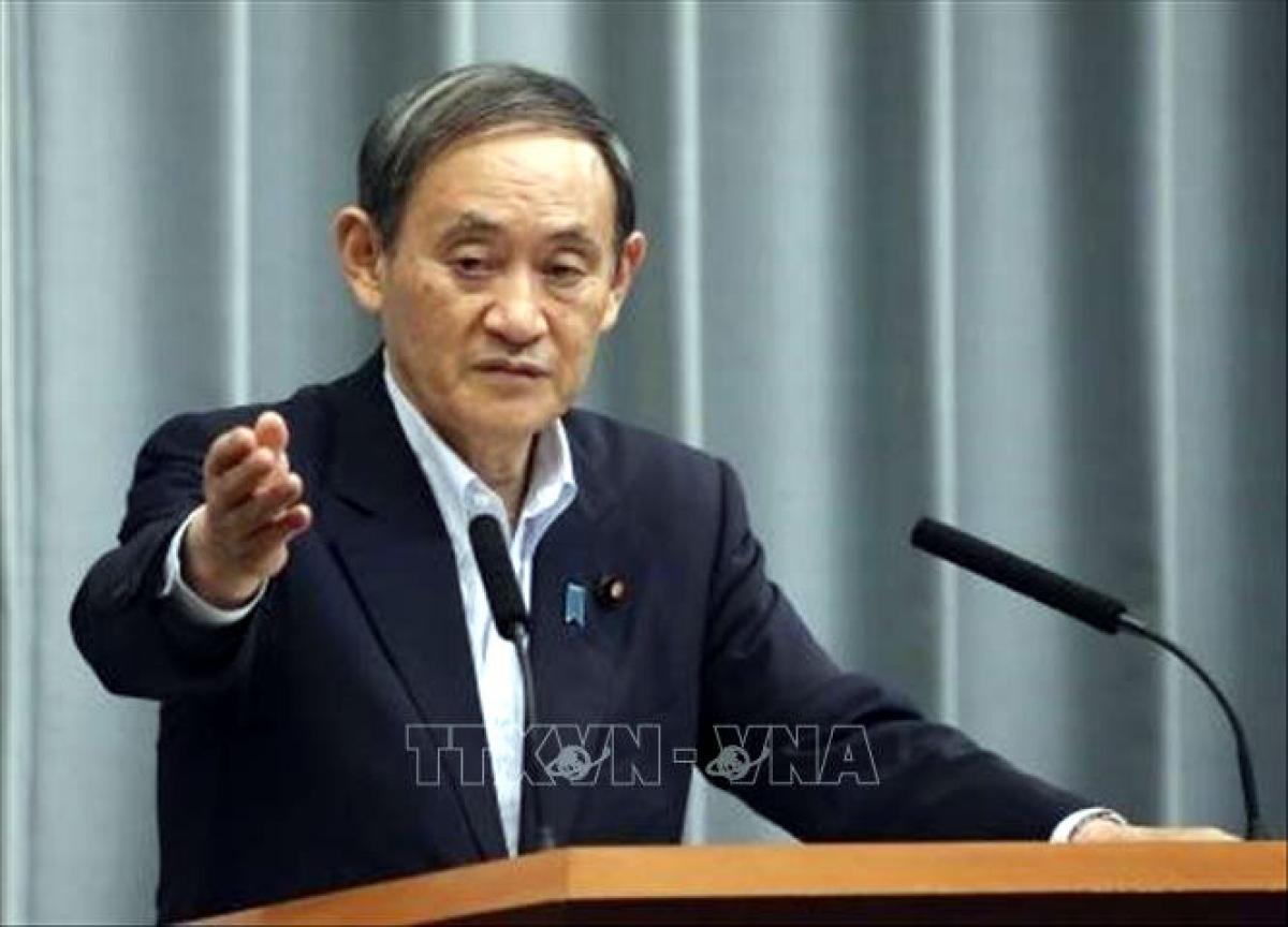 Tân Thủ tướng Nhật Bản Yoshihide Suga (Ảnh: TTXVN)