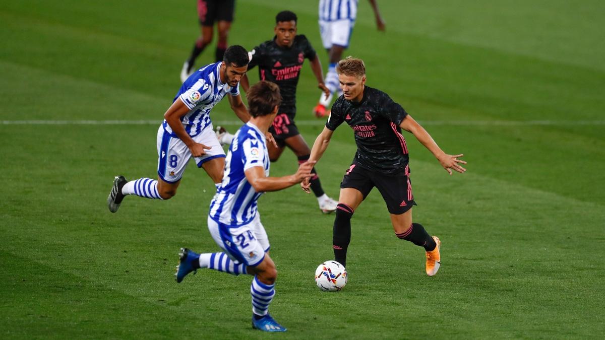 Odegaard trong trận ra quân La Liga mùa giải 2020/2021. (Ảnh: AS).