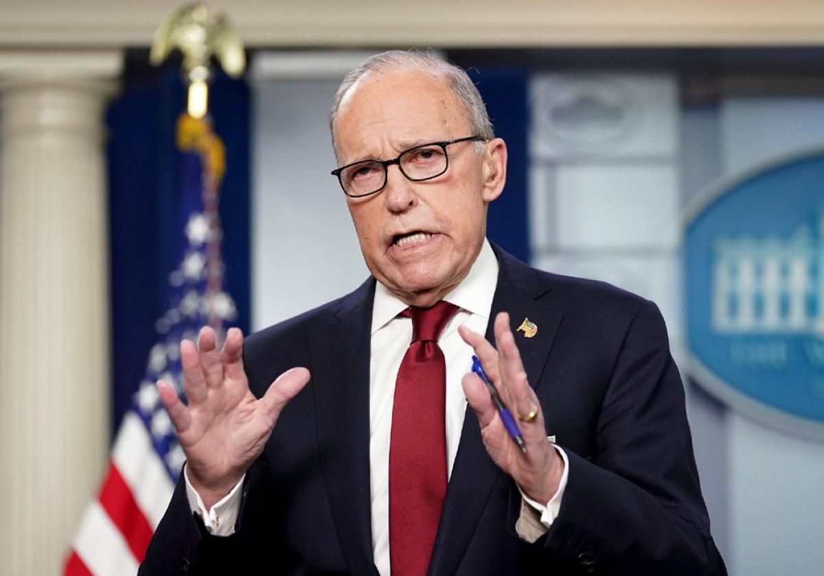 Ông Larry Kudlow, Cố vấn Kinh tế hàng đầu của Tổng thống Donald Trump. Ảnh:Reuters