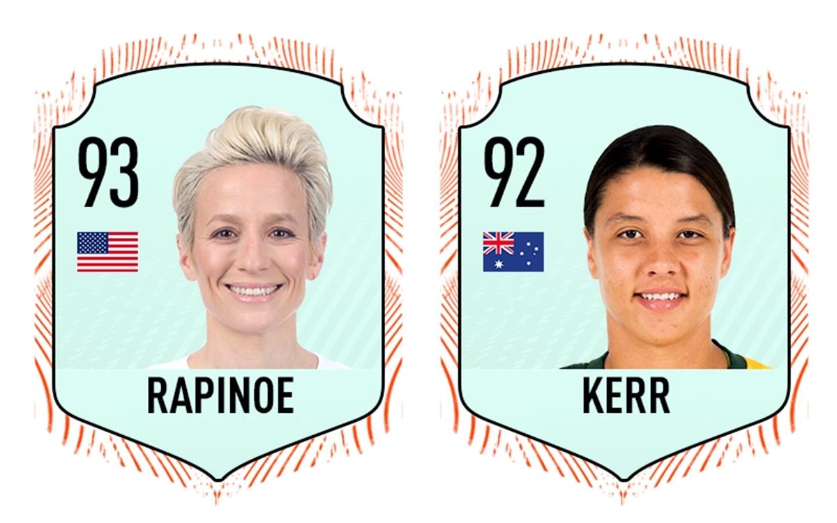 10 cầu thủ nữ xuất sắc nhất thế giới trong FIFA 21 gồm có: