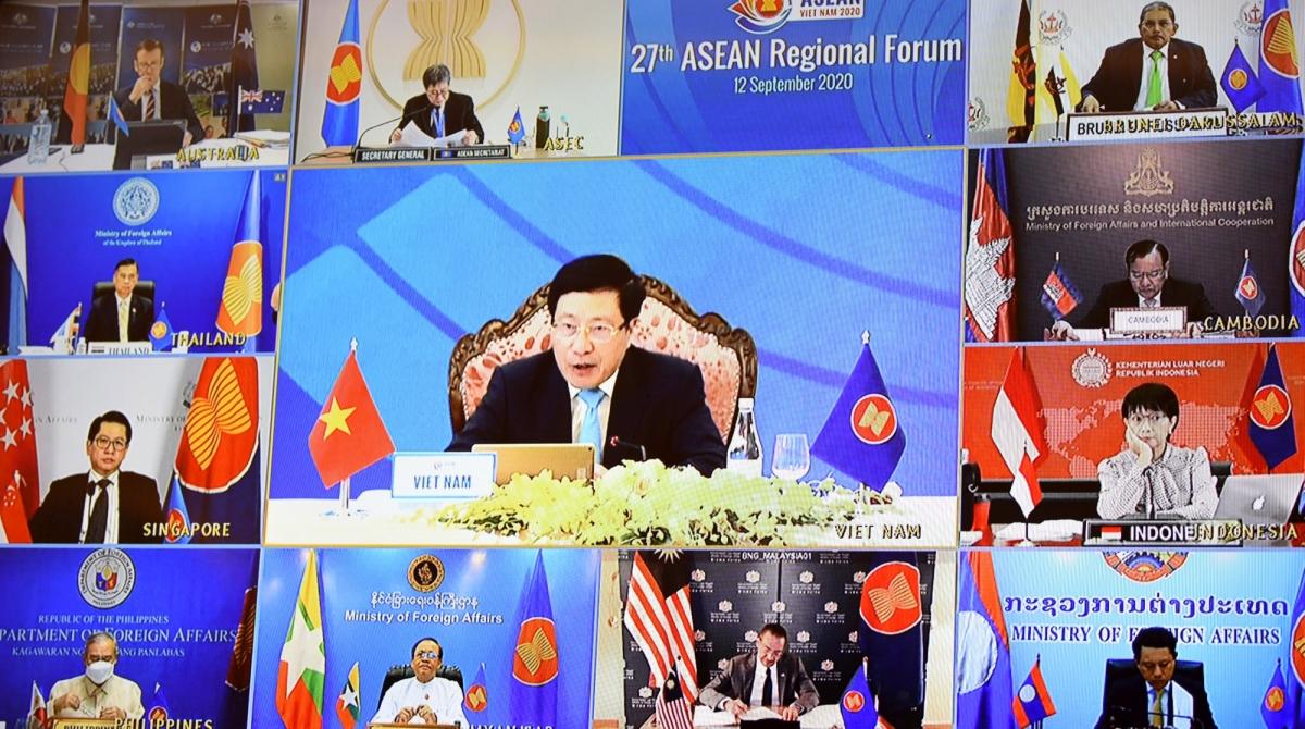 Hội nghị Diễn đàn ARF 27 diễn ra theo hình thức trực tuyến.