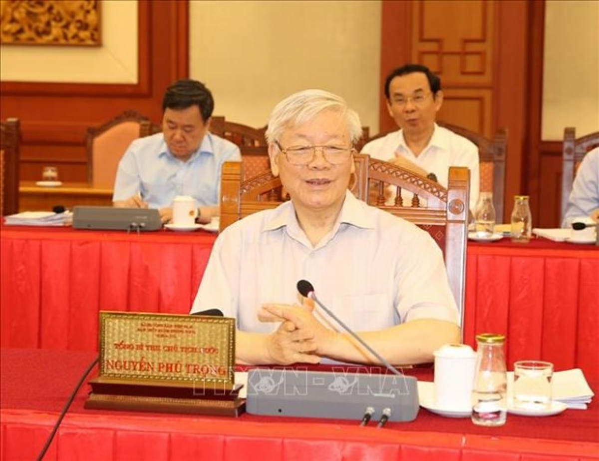 Party General Secretary and President Nguyen Phu Trong at the event
