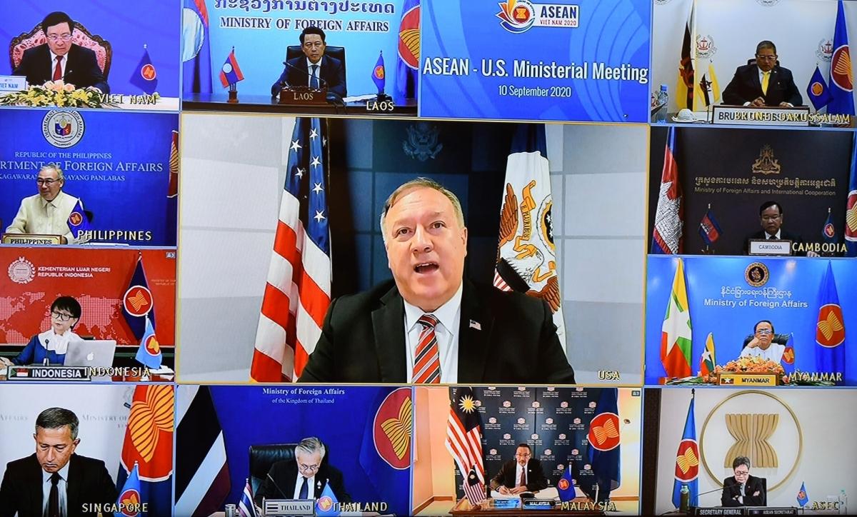 Ngoại trưởng Hoa Kỳ Mike Pompeo phát biểu tại Hội nghị.