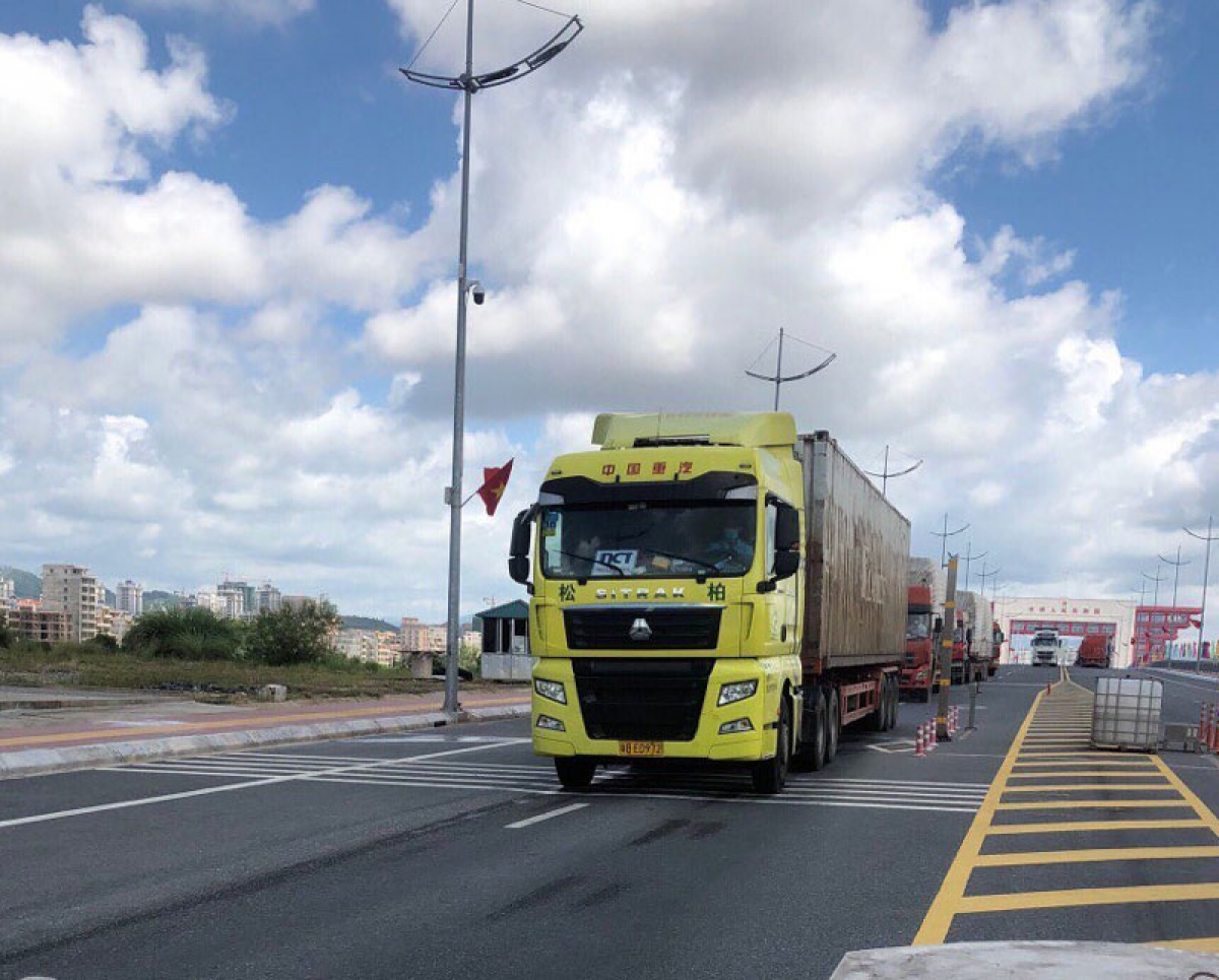 Hoạt động xuất nhập khẩu tại cửa khẩu Bắc Luân II.