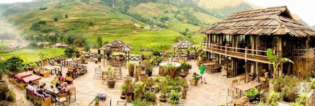 Quang cảnh Lá Dao spa & Coffee ở bản Tả Van, thị xã Sa Pa