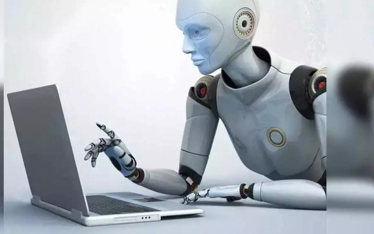 Hình ảnh minh họa về robot viết bài. Nguồn: Times of India.