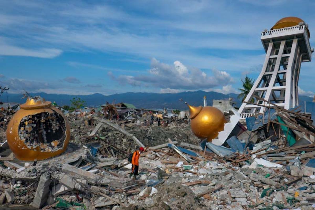 Động đất và sóng thần tàn phá thành phố Palu, Indonesia năm 2018. Nguồn: WFP