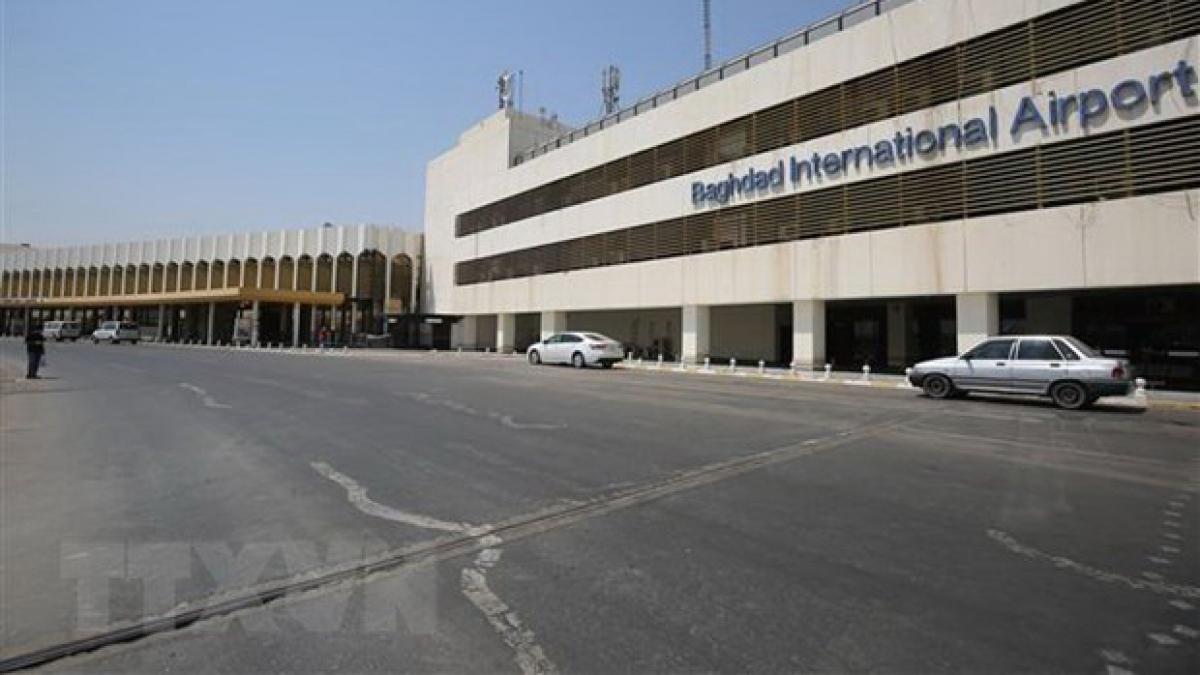 Sân bay Baghdad, mục tiêu của cuộc tấn công (Ảnh: AFP/TTXVN)