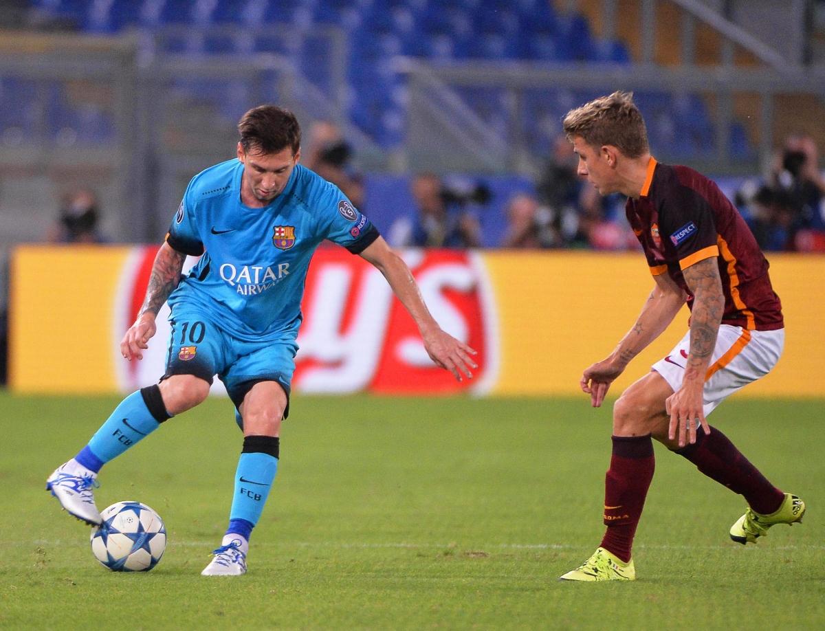 Messi trong trận đấu thứ 100 của anh tại Champions League 5 năm trước. (Ảnh: Getty)