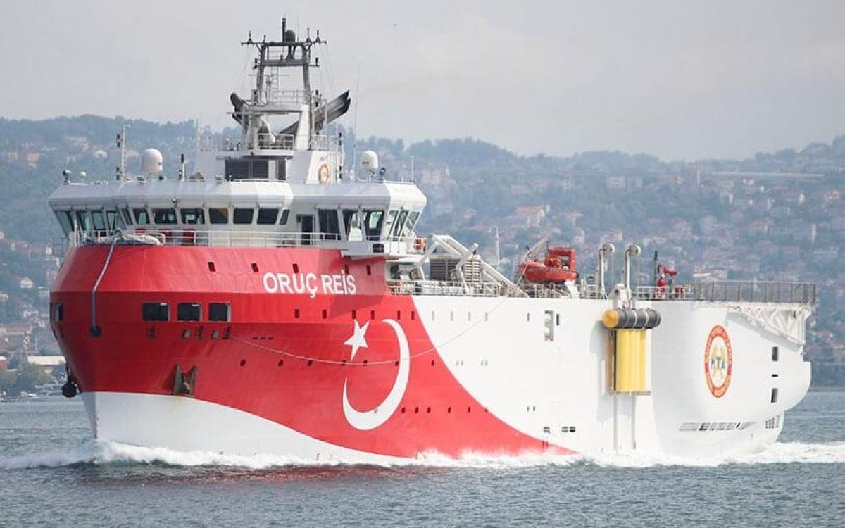 TàuOruc Reis của Thổ Nhĩ Kỳ. Ảnh: Atalayar.