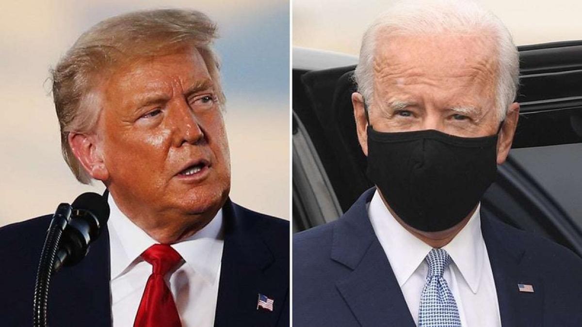 Tổng thống Mỹ Donald Trump và ứng viên đảng Dân chủ Joe Biden. Ảnh: The Hill