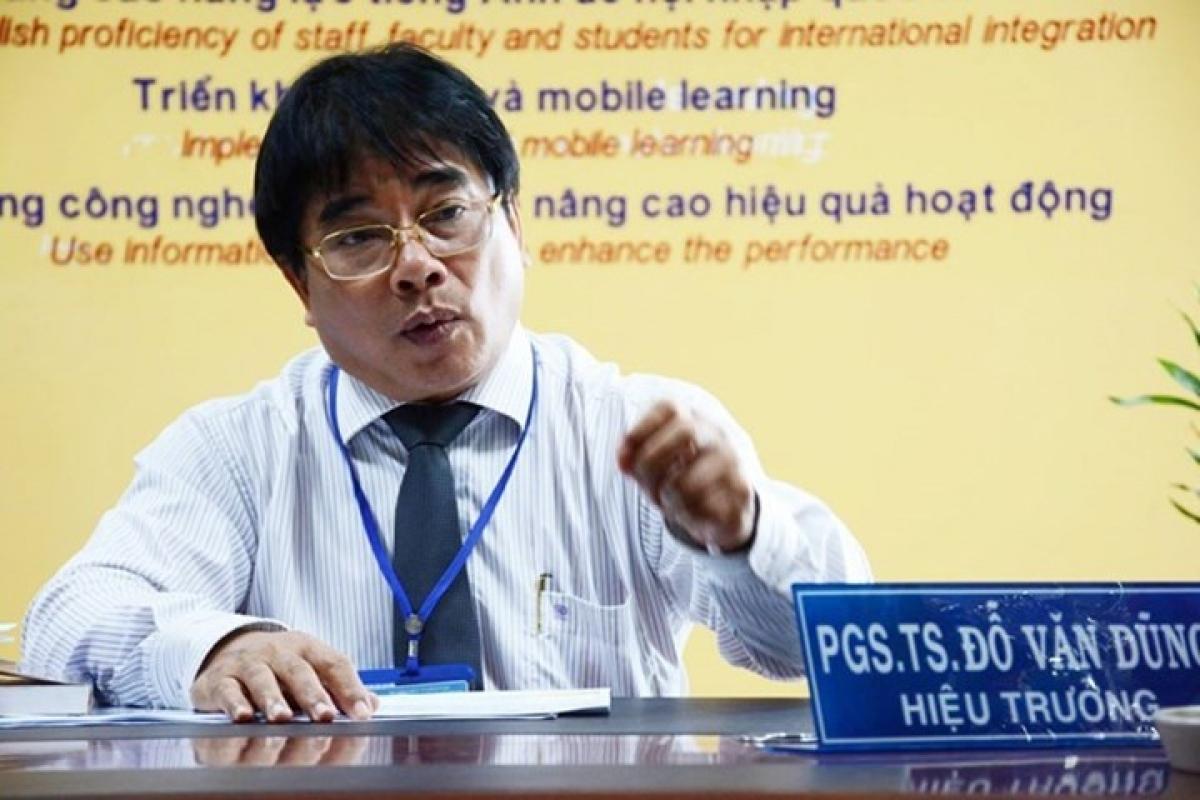 PGS.TS Đỗ Văn Dũng, Hiệu trưởng trường ĐH Sư phạm kỹ thuật TP HCM. (Ảnh: KT)
