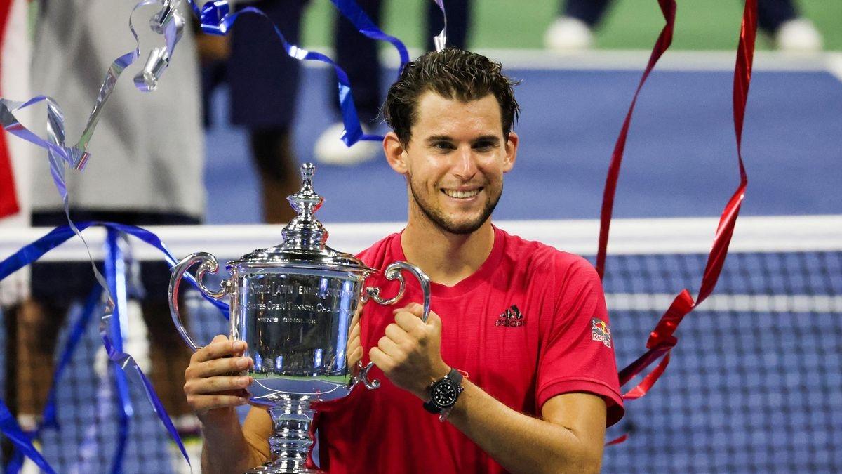 Dominic Thiem lần đầu đăng quang chức vô địch một giải Grand Slam. (Ảnh: Getty).