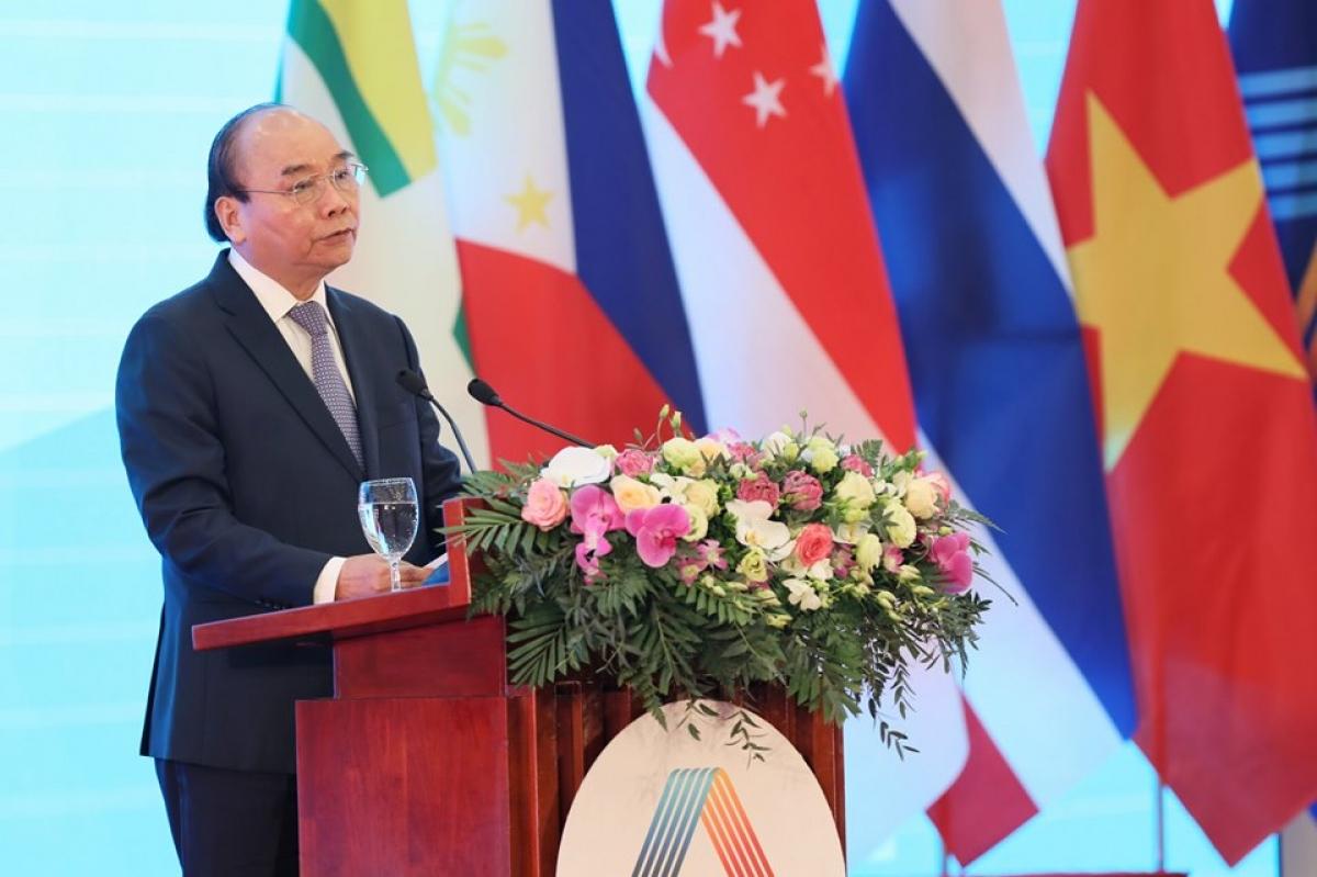Thủ tướng Chính phủ Nguyễn Xuân Phúc – Chủ tịch ASEAN 2020phát biểu tại lễ khai mạc