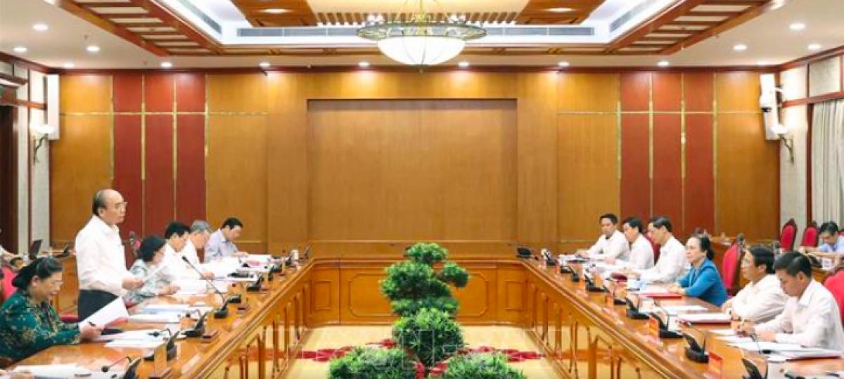 Thủ tướng Nguyễn Xuân Phúc chủ trì buổi làm việc với Ban Thường vụ Thành uỷ Hải Phòng