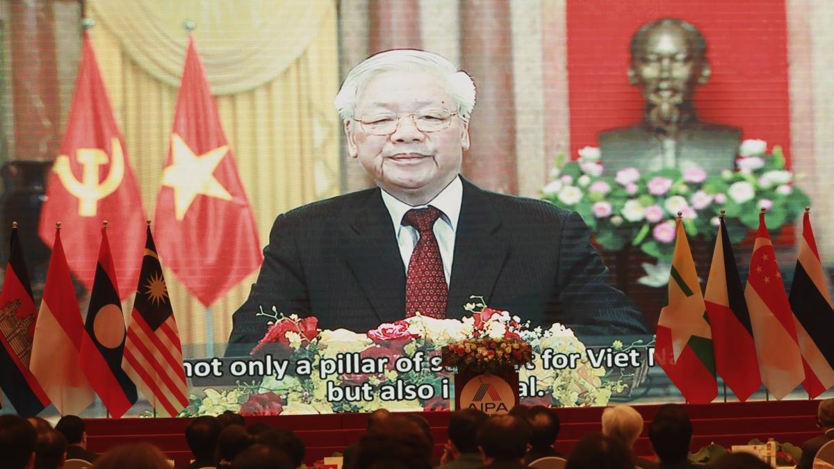 Tổng Bí thư, Chủ tịch nước Nguyễn Phú Trọng phát biểu trực tuyến chúc mừng AIPA 41