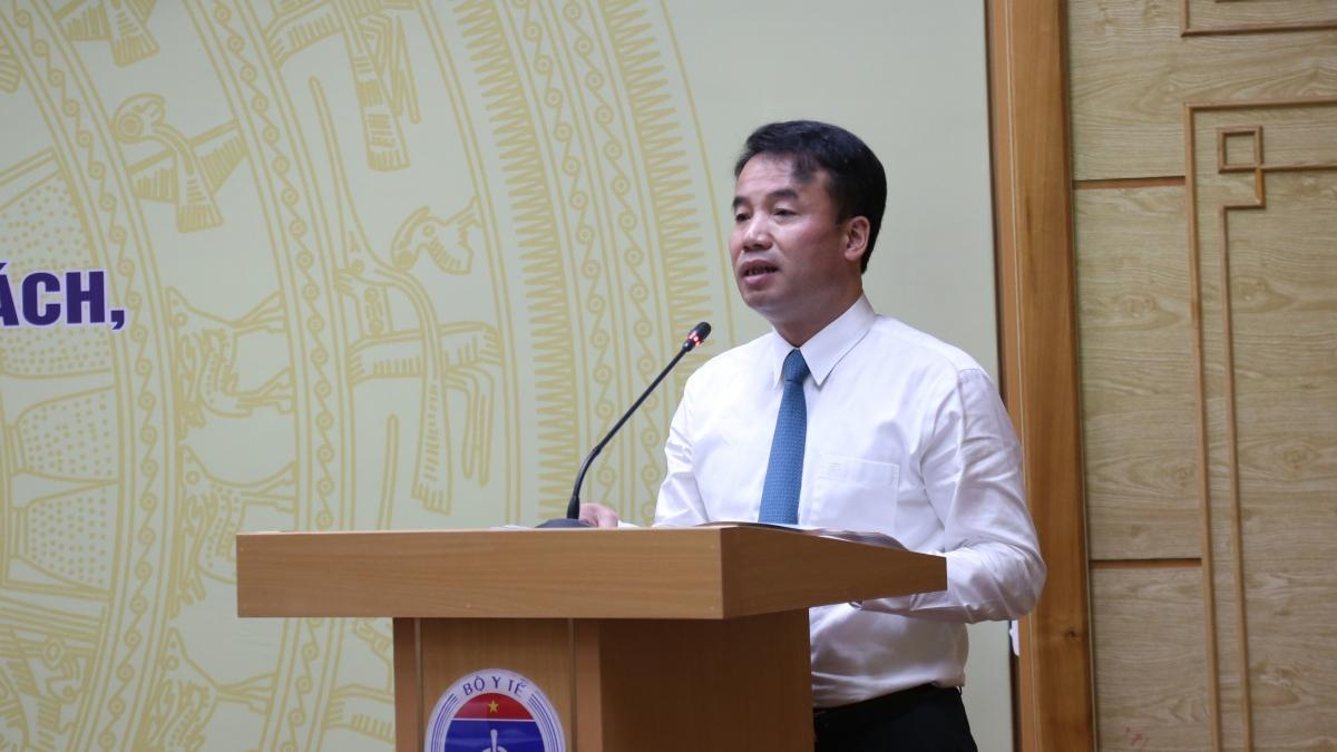 Tổng Giám đốc BHXH Việt Nam Nguyễn Thế Mạnh phát biểu tại buổi lễ.