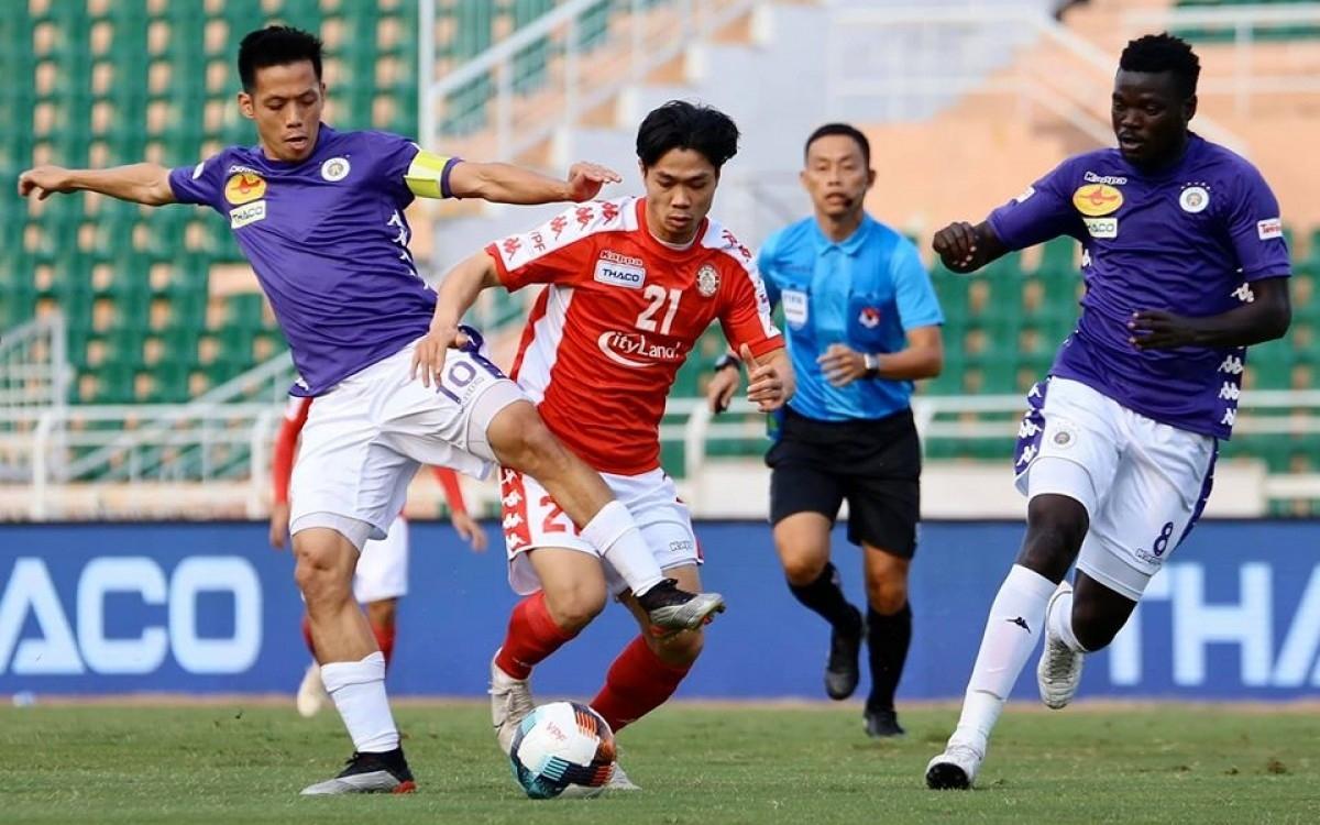 Công Phượng vắng mặt trong trận bán kết Cúp Quốc gia với Hà Nội FC do bị treo giò. (Ảnh: VPF).