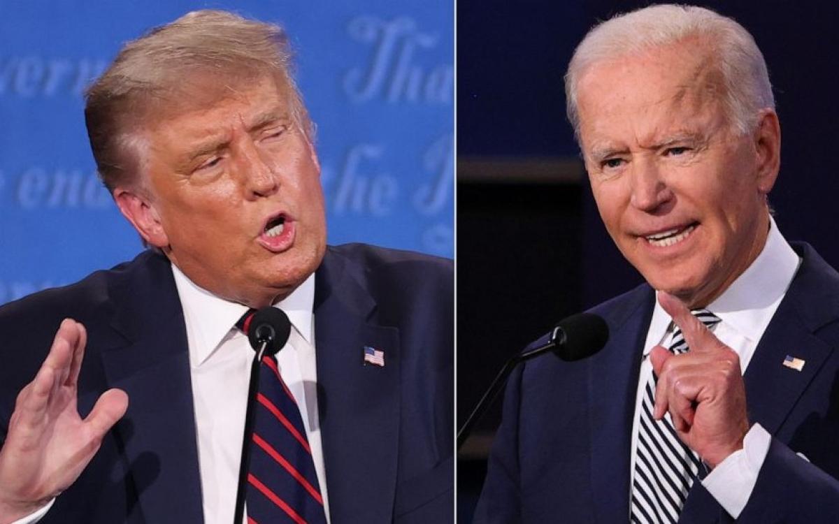 Ông Trump (phải) và ông Biden. Ảnh: ABC News.